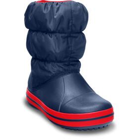 Crocs Winter Puff Laarzen Kinderen, navy/red